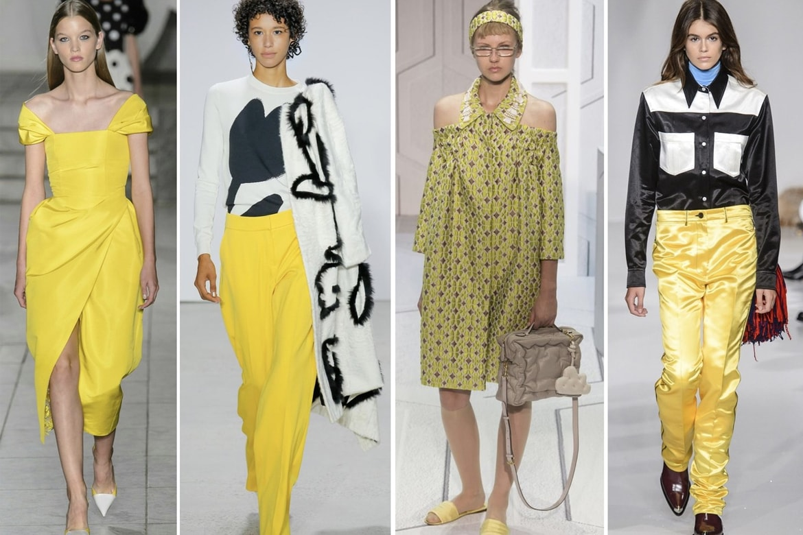 Front Row - Tendencias NYFW - Amarillo