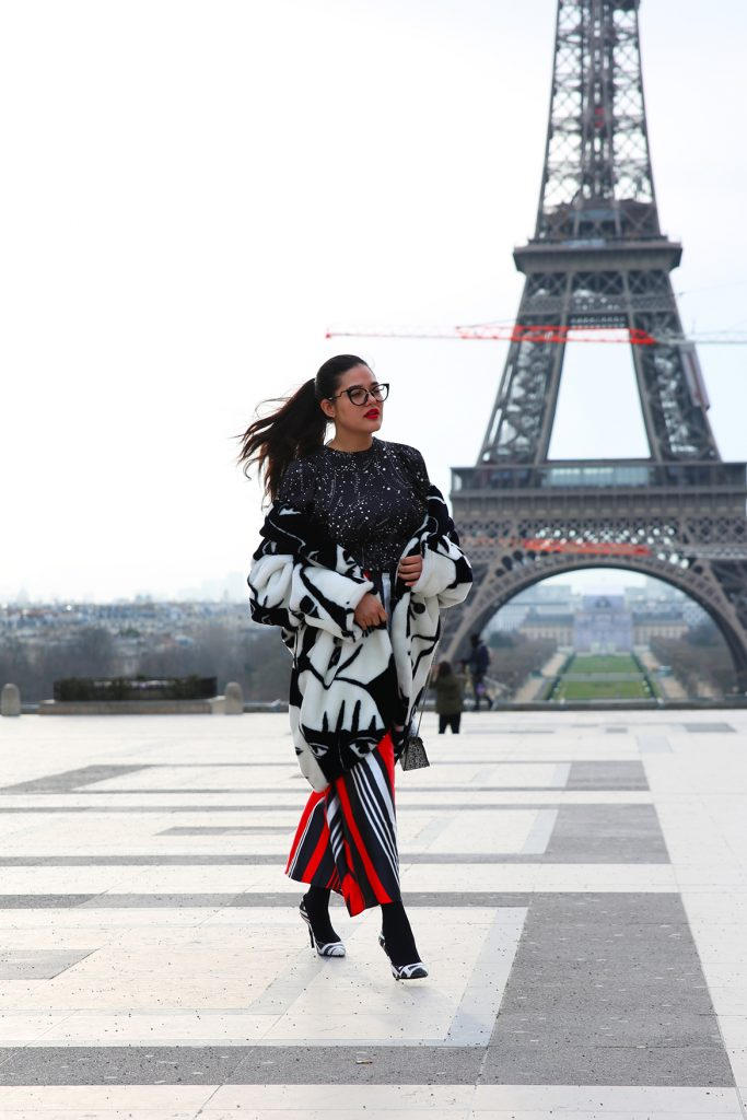 Front Row - Look Paris Fashion Week - Óptica Los Andes - Cristina León - Zara